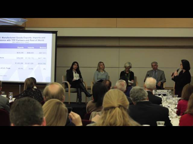 WITA TPP Series: Manufacturing Panel: Linda Dempsey of the National Association of Manufacturers