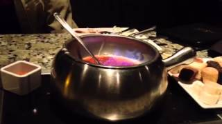 White Chocolate Crème Brûlée Fondue At Melting Pot.  Yum!