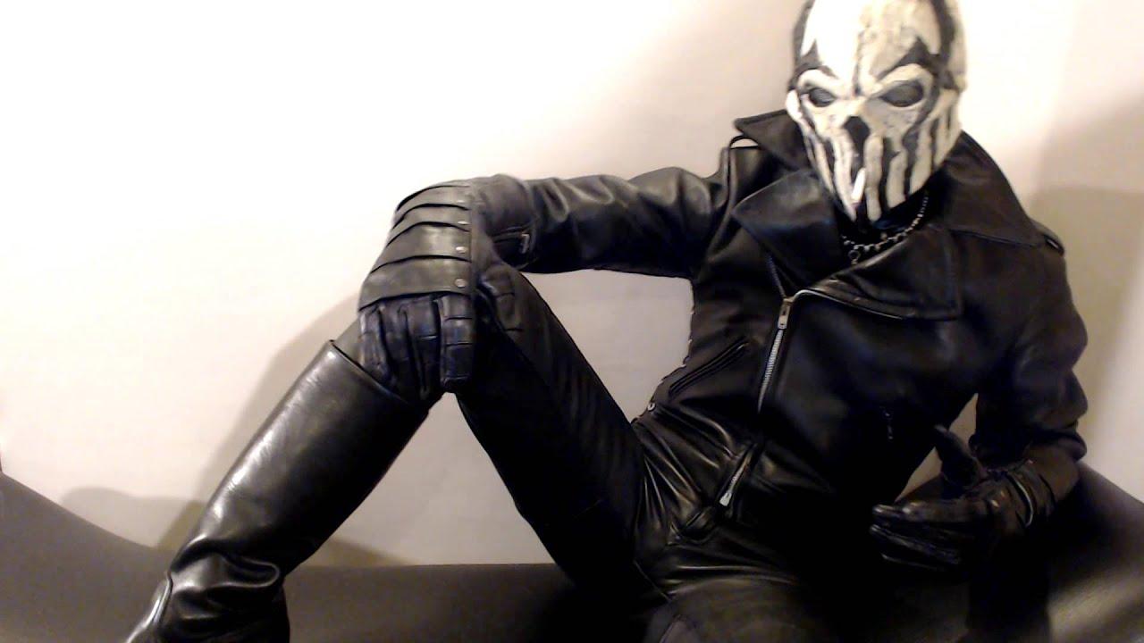 White Mushroomhead Mask Amp Leather 2 Youtube