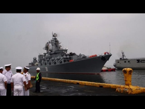 Thumbnail: Russian warship docks in Philippines