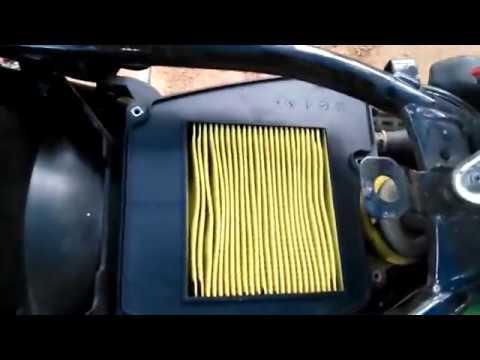 yamaha fz/fazer/fz16 air filter check and change