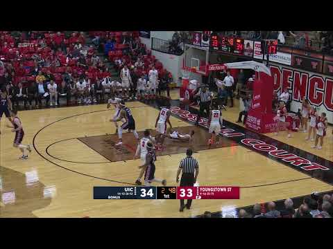 Highlights from the YSU Men's basketball game vs UIC   February 16, 2019