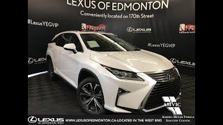 White 2019 Lexus RX 350L Executive Package 6 Passenger Review Edmonton Alberta -