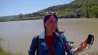 МЦХЕТА მცხეთა,  река Кура, Мтквари მტკვარი, поездка в Грузию на машине май 2018