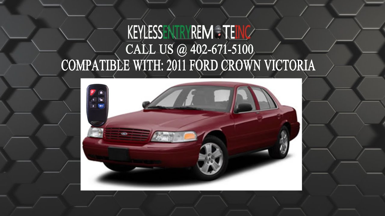 how to replace ford crown victoria key fob battery 2011 - youtube