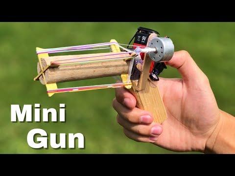 How to Make MiniGun that shoots - Amazing Rubber Band Machine Gun