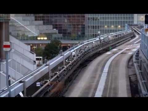 Japan. Tokyo. Yurikamome elevated train