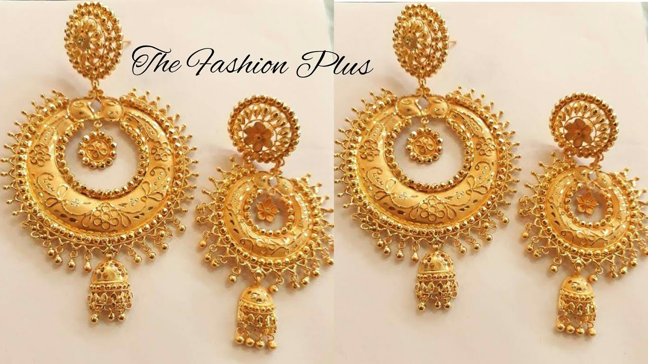 Latest Gold Earrings Designs With Weight And Price The Fashion Plus