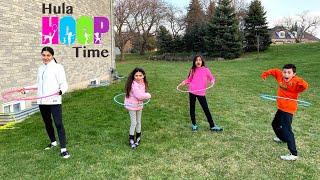 Hula Hoop Challenge with HZHtube Kids Fun