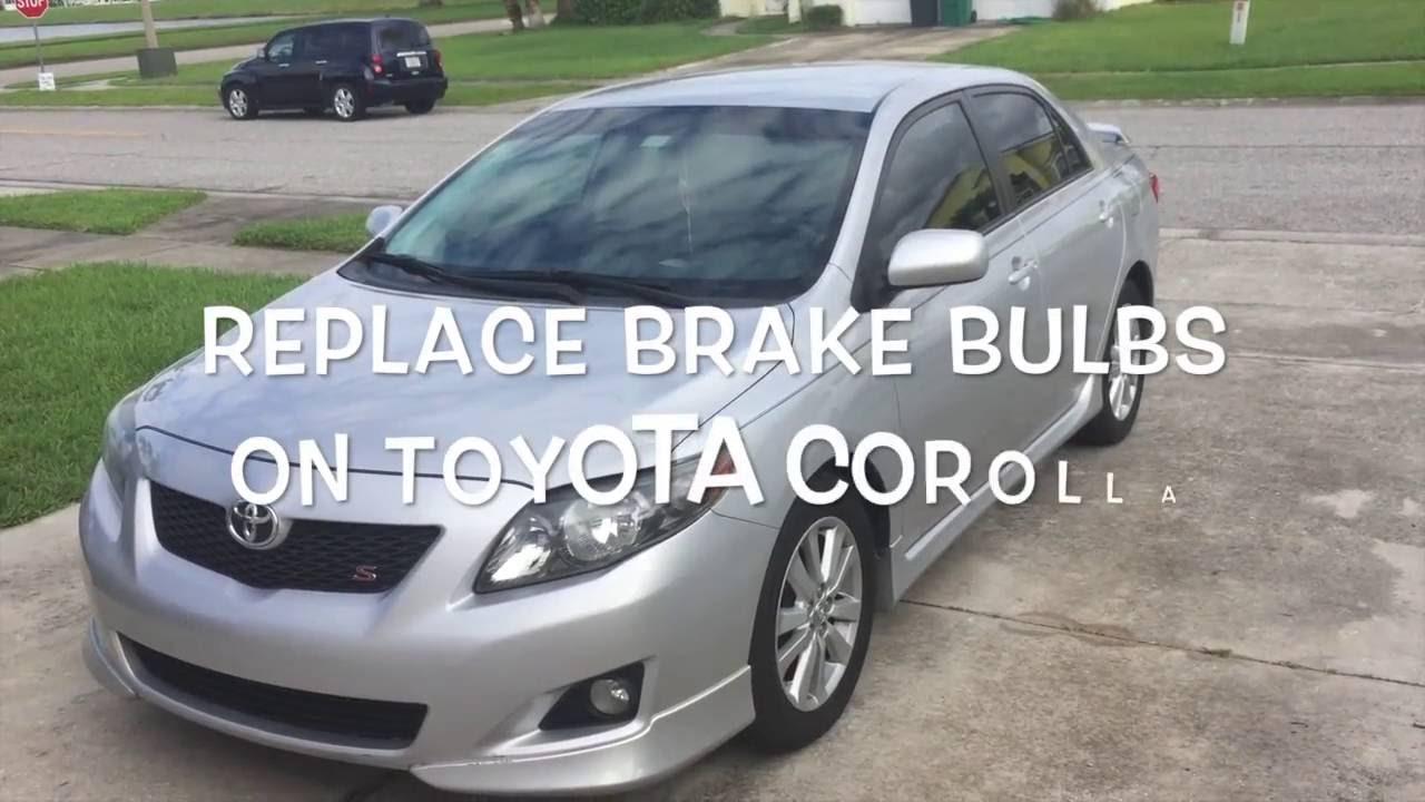 Replace Brake Light Bulb Toyota Corolla