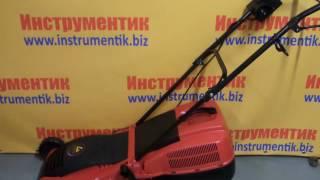 видео Бытовая электрическая газонокосилка IKRA Mogatec ELM 1434 U купить. Отзывы.