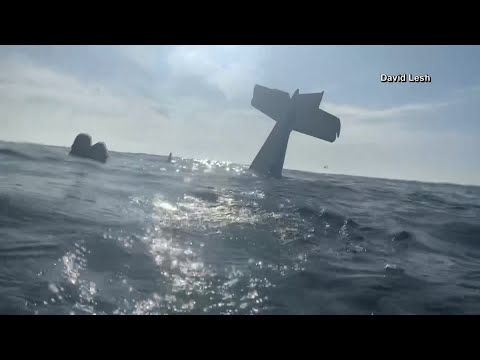 CAUGHT ON CAMERA: Two survive plane crash in waters off California