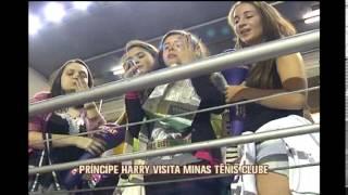 Príncipe Harry visita o Minas Tênis Clube, em Belo Horizonte.