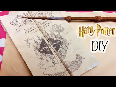 DIY Harry Potter Marauder's Map Printable and Parchment EASY DIY Paper! How to Make Marauder's Map