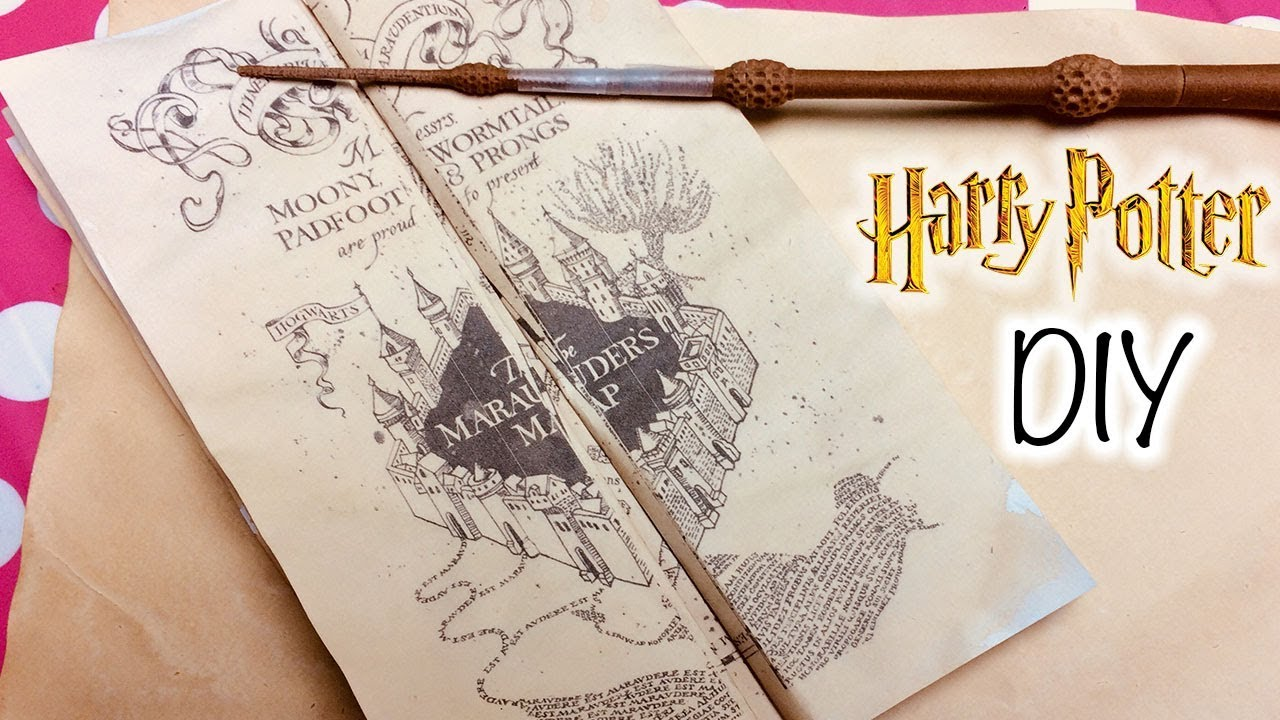 photo regarding Harry Potter Marauders Map Printable identified as Do-it-yourself Harry Potter Marauders Map Printable and Parchment Uncomplicated Do it yourself Paper! How in direction of Crank out Marauders Map