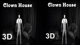 3D Clown House TV VR box atmospheric horror video Side by Side SBS google cardboard