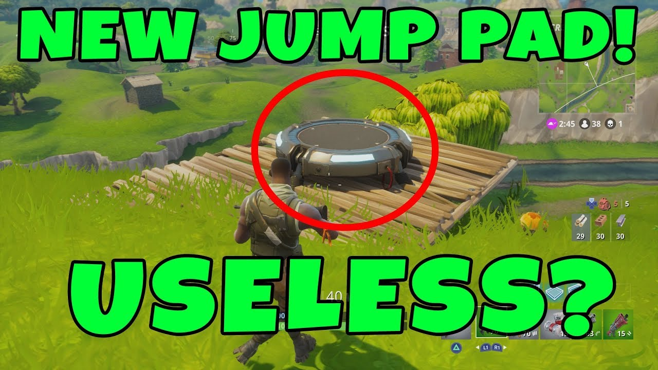 fortnite update 1 9 new jump pad first look new launch pad fortnite battle royale - launch pad fortnite