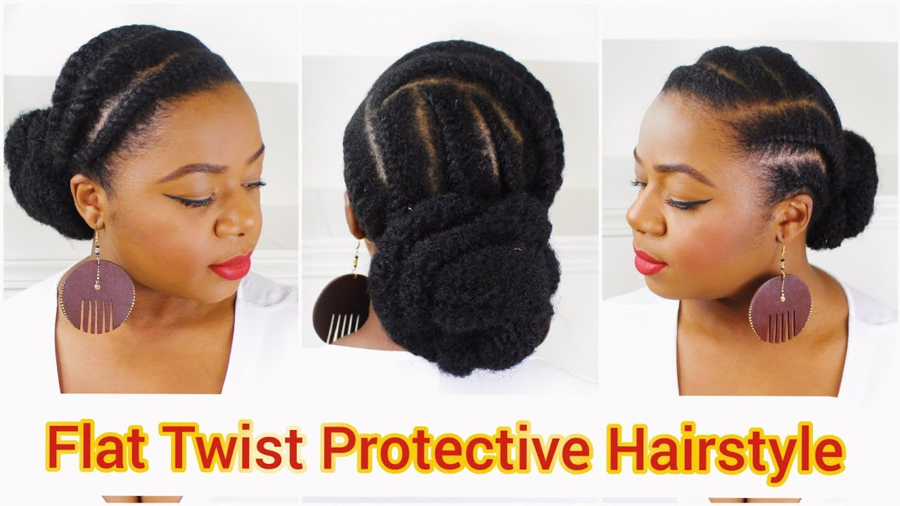 Flat Twist Protective Hairstyles For Short Mid Length Hair 4c Hairstyles Youtube
