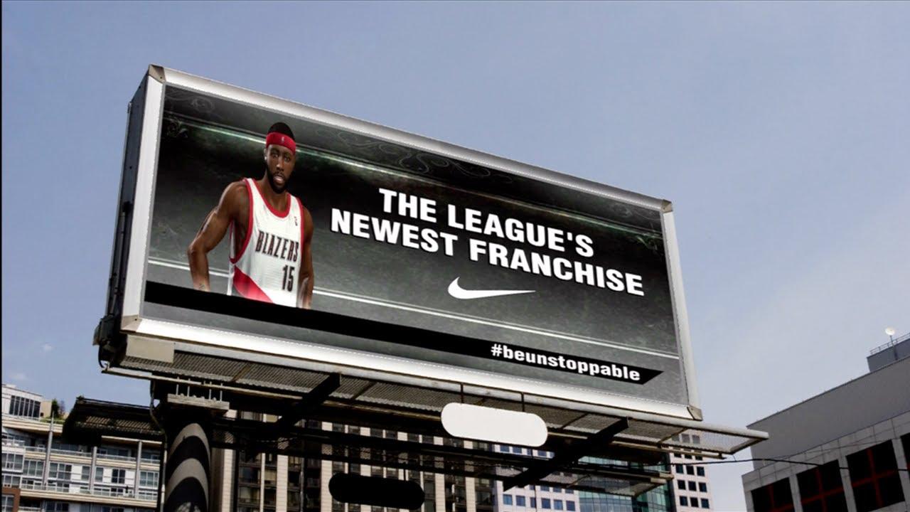 Nba 2k13 Mycareer Nike Introduction Billboard Endorsement Feat Ipodkingcarter Pg Ipodkingcarter Youtube