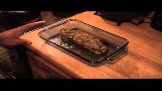 Garlic Herb Pork Tenderloin W Raspberry Serrano Glaze
