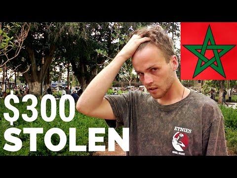$300 DOLLARS CASH STOLEN in MOROCCO المغرب