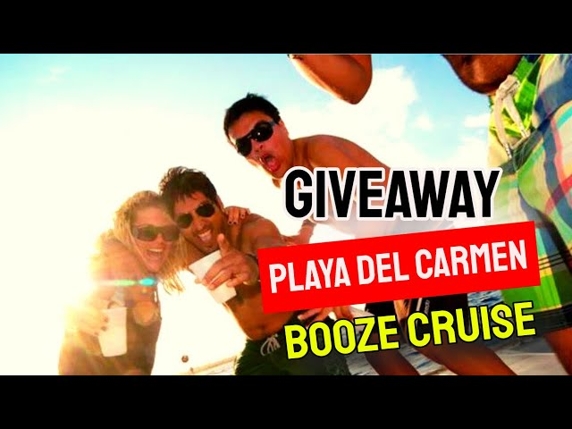 Playa del Carmen BOOZE CRUISE - 3 best booze cruises Playa del Carmen - Riviera Maya booze cruise