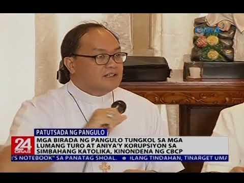 Mga birada ng Pangulo tungkol sa mga lumang turo sa Simbahang Katolika, kinondena ng CBCP
