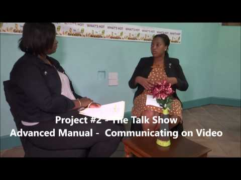 Project #2 (Advanced Manual - Communicating on Video) - The Talk Show