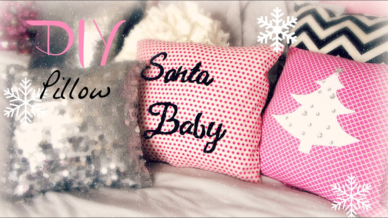 Diy Decorative Christmas Pillows : DIY Decorative Christmas Pillow - YouTube