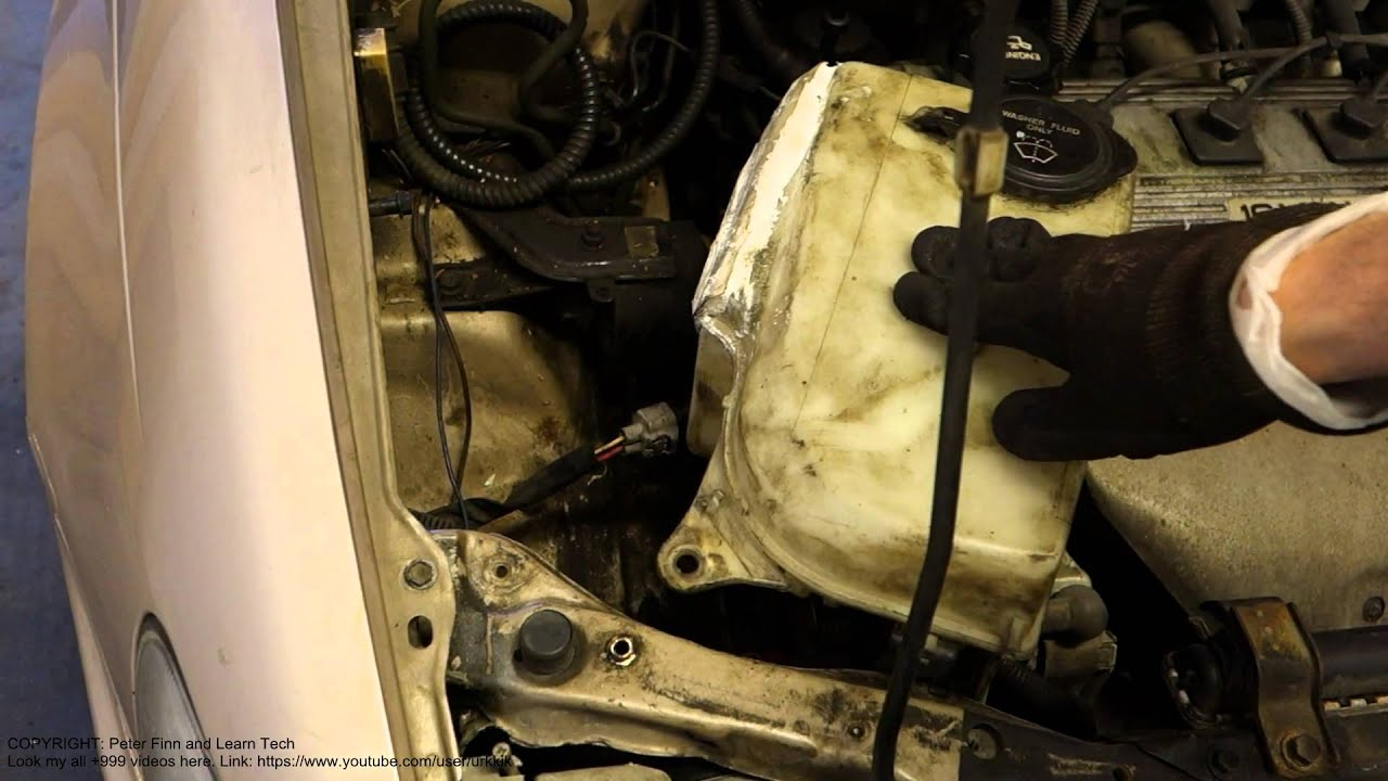 How To Replace Washer Fluid Tank Toyota Corolla Years
