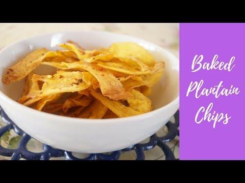 Savoury Baked Plantain Chips | Vegan Nigerian Snack