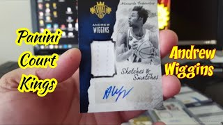 Andrew Wiggins Sketches and Swatches - Panini Court Kings - Mailday