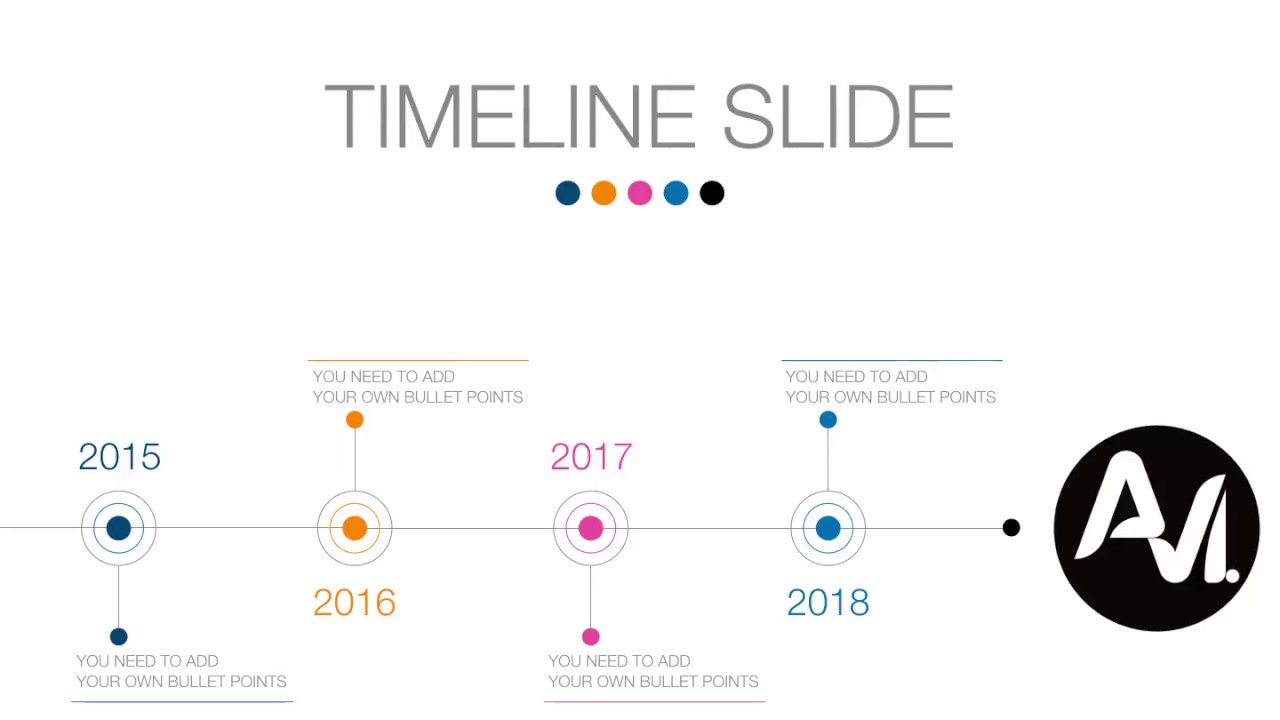 Animated Keynote Timeline Slide - YouTube