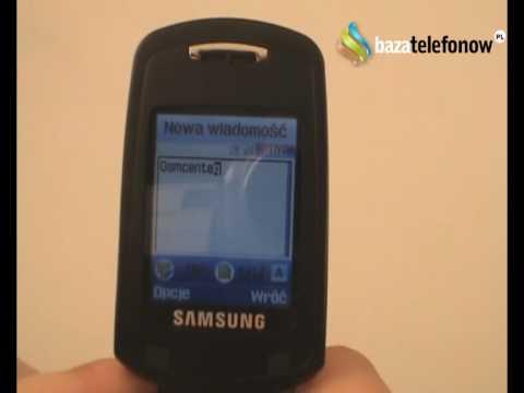 Prezentacja telefonu Samsung SGH-E380