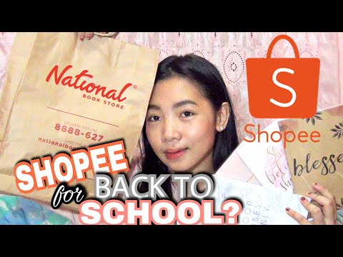 Back To School Haul 2018 for SENIOR HIGH SCHOOL (SHOPEE + National Bookstore)