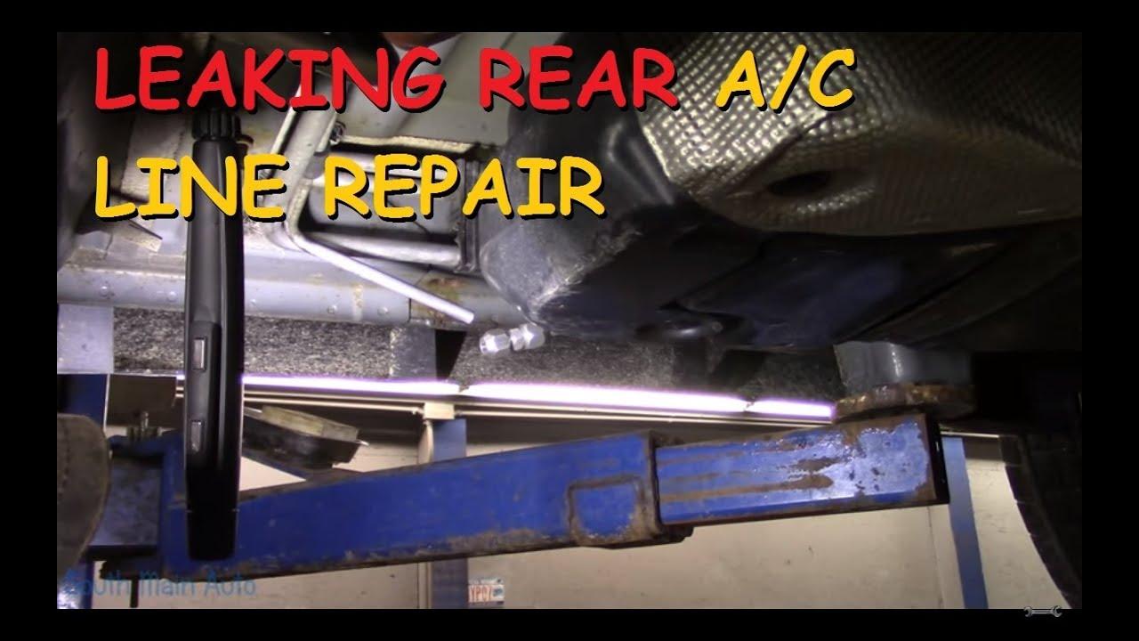 small resolution of leaking rear a c line repair dodge durango