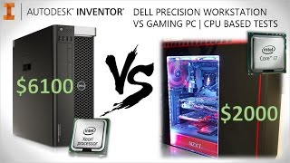 $6000 10C Dell Workstation -VS- $2000 4C Gaming PC | CAD Benchmark Test(In this video, I perform identical benchmark tests on both a $6000 Dell Precision Workstation with a 10 core Xeon CPU, and a $2000 gaming PC with an ..., 2016-01-29T17:55:44.000Z)