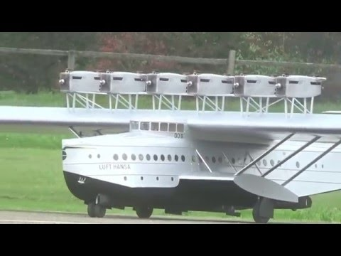 Biggest Rc Dornier Do-X Airliner Very Big Scale with 12 Engines