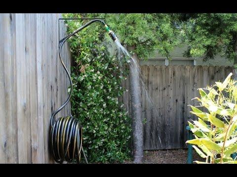Dusche selber bauen Garten Dusche selber bauen  YouTube