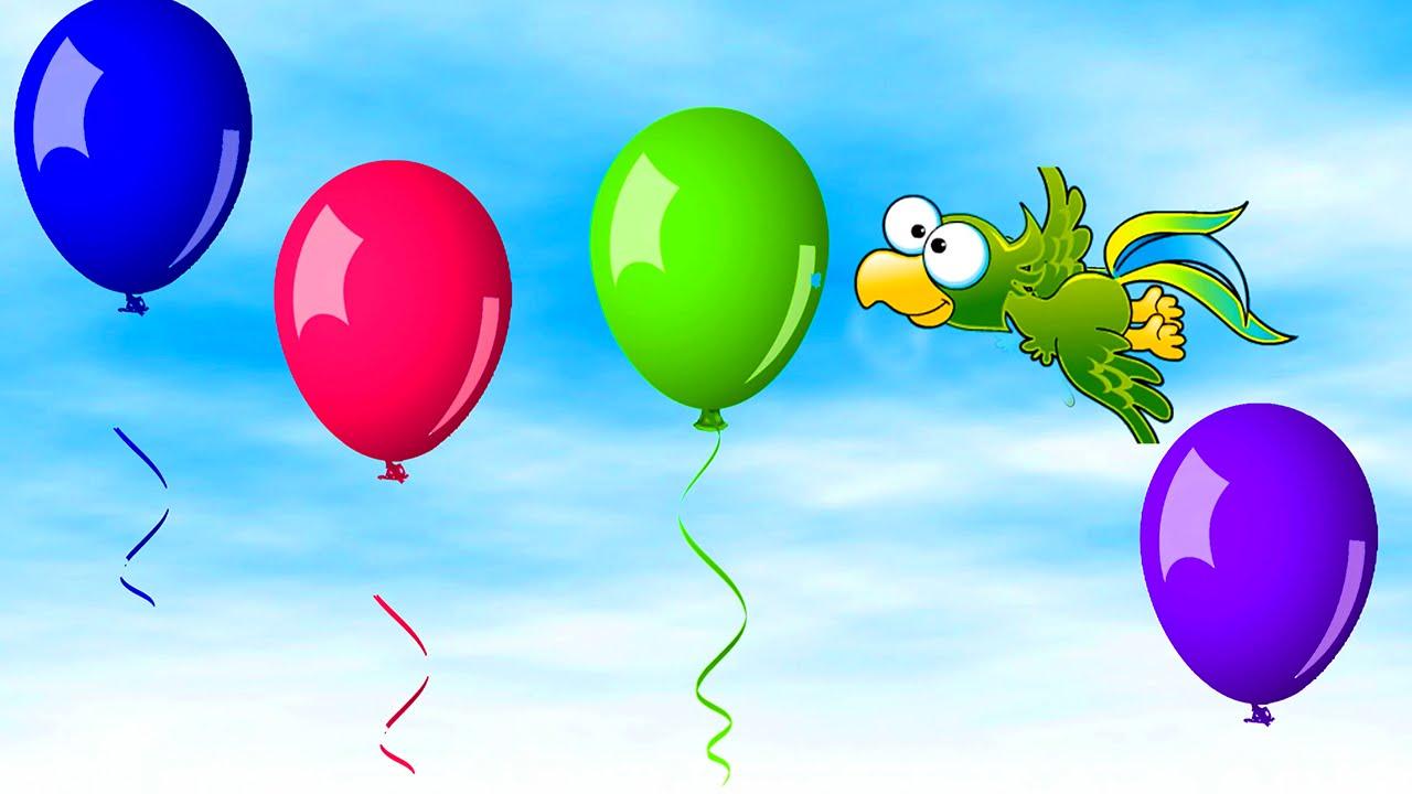 Learn Balloon Colors, Teach Colours, Baby Toddler Preschool - YouTube