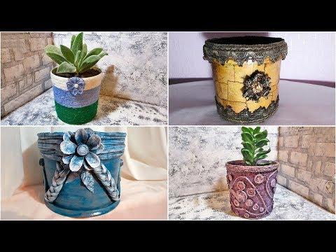 Как украсить вазон для цветов своими руками