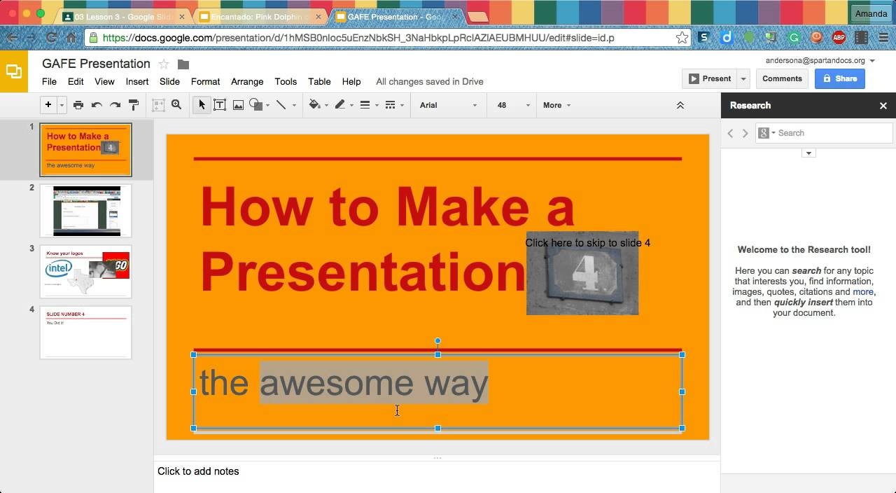 how to link to another slide in google slides youtube