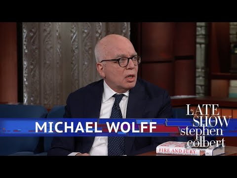 Paterson's Michael Wolff To Stephen Colbert: Believe All Of 'Fire And Fury'