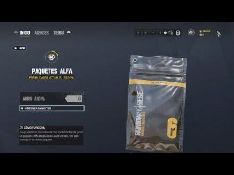 Abriendo 50 Alpha packd