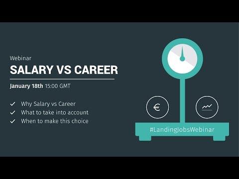 Webinar: Salary vs Career