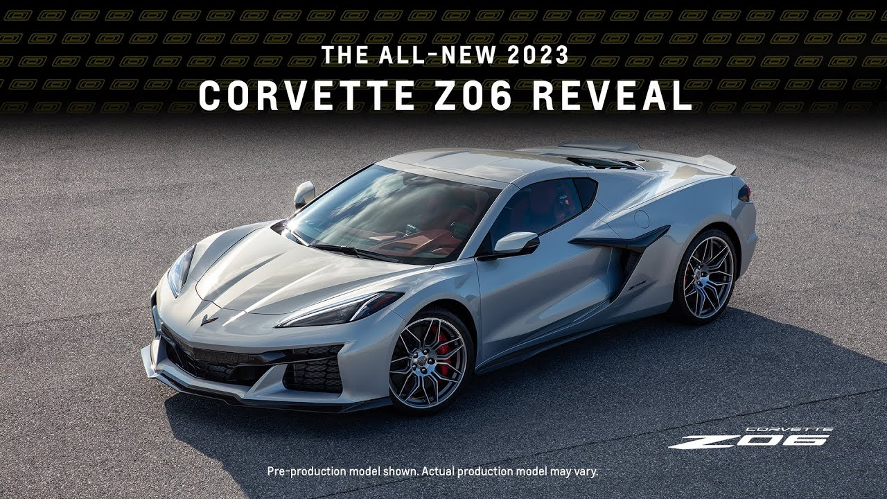 Watch the 2023 Chevrolet Corvette Z06 reveal live, here, now