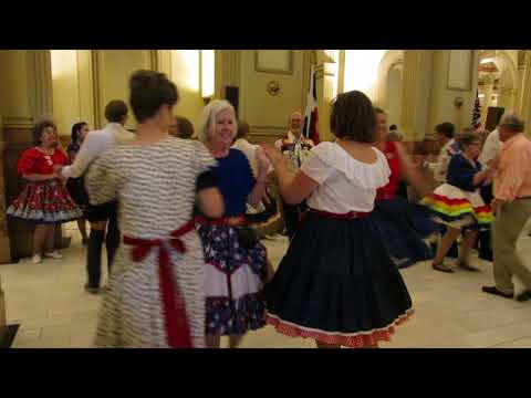 Square Dancing:  25th Anniversary Proclamation Square Dance at Colorado State Capitol, 2017