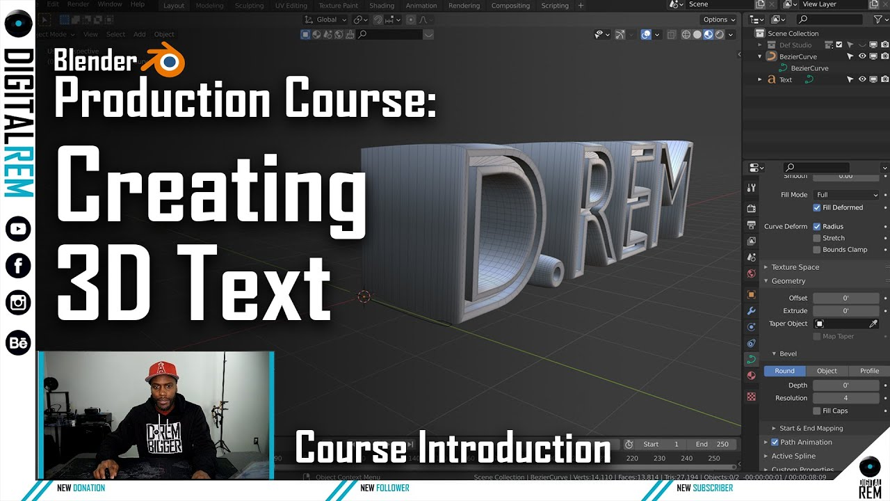 How To Create Custom Text | Blender Course