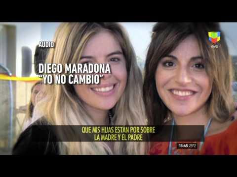 Diego Maradona dijo que no hay, hubo ni habrá acercamiento con Claudia Villafañe