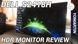 dell s2418h review  HDR  S 2418H infinity display  best monitor available under 200